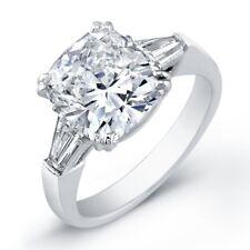 GIA Certified Engagement Ring 1.40 CTW Cushion Cut  Diamond 18k Gold