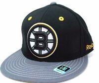 Boston Bruins Reebok MO89Z NHL Team Logo Stretch Fit Black Hockey Cap Hat L/XL