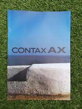 Contax AX Camera Sales Brochure