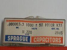 Electronics - Sprague Capacitors .000003.3mf, Type N220