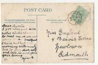Broad Clyst [A] 1 Sep 1909 Single Ring Postmark Devon 832b