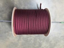 "1/2"" X 150' Halyard sail line,Anchor rope polyester double braid USA ,Burgundy"