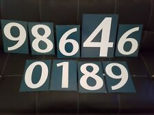 VINTAGE CALTEX  NUMBER PRICE PETROL SIGNS METAL DOUBLE SIDEDx 9 MAN CAVE