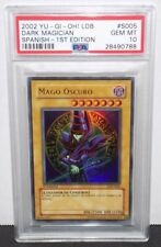 PSA 10 Dark Magician (LDD-S005) Ultra Rare 1st Edition - Spanish GEM MINT POP 2