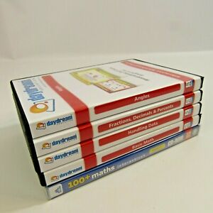 Math Whiteboard CD-ROM Lot of 5 Data Fractions Angles Interactive Measuring