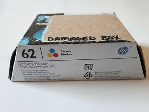 HP 62 Original Tri-Color Ink Cartridge (C2P06AN) Damaged Box But Sealed