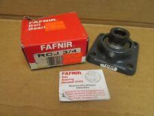 "FAFNIR RCJ-3/4 BEARING UNIT 4 BOLT FLANGE RCJ 3/4"" ID w/ collar USA"