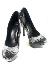 Shiekh  Size: 8.5 Sequins High Heel Pumps Black and Silver