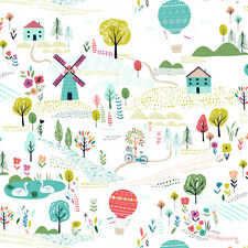 Dashwood Studio Fabric. Sweet Escape Collection. Summer Landscape. Per FQ