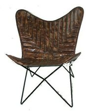 Mesopotamia Chair Iron Stand With Leather Cover for Indoor Outdoor