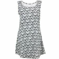 Swing Dress para Mujer mexicana calaveras impresión Fiesta Smock Floaty LOUDelephant