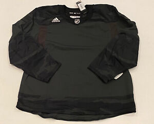 Adidas Salute to Service Military Camo Blank NHL Hockey Jersey Mens Sz 54