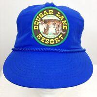 Cougar Lane Agness Oregon Resort Hat Cap Patch Blue One Size Snap Back