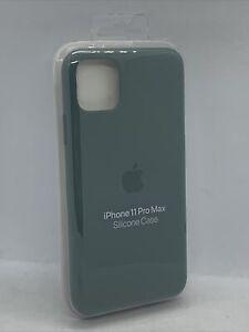 Official Genuine Apple iPhone 11 Pro Max Silicone Case Pine Green Original