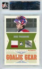 Jose Theodore 05-06 Ultimate 6th Ed Goalie Gear Silver Jersey Stick 10/25