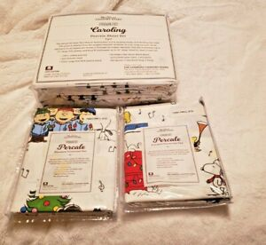 Peanuts Percale Sheets Vermont Country Store (King) PLUS 2 STANDARD PILLOW CASES