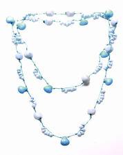 Cool Blue & White Con Cuentas/Azul Lindo Hilo & Stone Collar (Zx176)