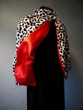 CRUELLA DE VILLE FANCY DRESS COSTUME, DALMATIAN CAPE/CLOAK,  CRUELLA DE VIL WRAP