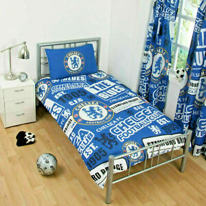 Chelsea Single Duvet Set Patch Football Club Team kids new uk stock