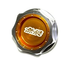 JDM MUGEN EMBLEM BRUSHED GOLD ENGINE OIL FILLER CAP BADGE FOR HONDA ACURA