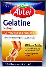 Abtei Gelatine, Trinkgelatine, 100% reine Gelatine, Muskeln & Knochen, 250g