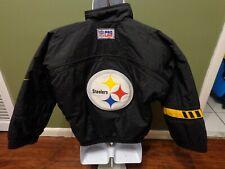 VTG Nike NFL Pro Line PITTSBURGH STEELERS Jacket Winter Coat YOUTH MEDIUM