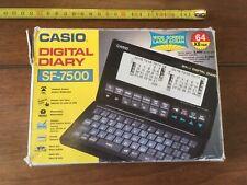 Calculatrice Casio 64 KO Vintage SF-7500  DIGITAL DIARY Manuel MADE JAPAN JAPON