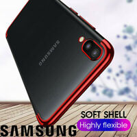 Plating Silicone Hybrid Clear Case Cover For Samsung Galaxy A80 A70 A60 A50 A40