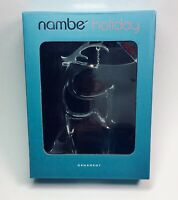 Nambe Ornament Exquisite Glass & Silver* Reindeer New in Box. Holiday Christmas