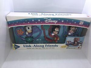 VTG Mattel Disney Mickey & Friends Minnie Donald Link Along Friends Baby Toy MIB