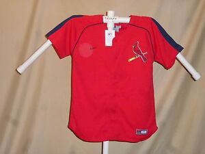 ST. LOUIS CARDINALS Team Nike JERSEY Youth Medium  NWT red  $50 retail