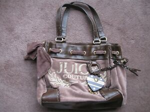 Juicy couture faux suede bag with charm