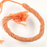 """natural fire Sunstone faceted rondelle micro beads 2 mm AAA quality 13"""" Strand"""