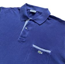 Vintage LACOSTE Polo Shirt | Size 6 (XL) | Navy Blue Short Sleeve With Pocket