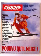 L'Equipe Magazine 02/12/1989; Entretien Arantxa Sanchez/ Spécial Ski/ Uno Mas