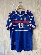 FRANCE 1998 HOME FOOTBALL SHIRT SOCCER JERSEY ADIDAS REPLICA # 19 KAREMBEU