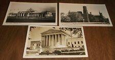 Vintage Postcards RPPC Washington DC Union Station US Supreme Court Smithsonian