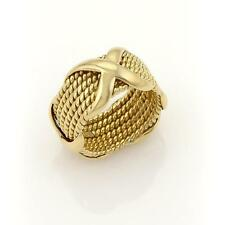 Tiffany & Co. Jean Schlumberger 18k Yellow Gold  6 Row Rope Band Ring