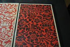 Shepard Fairey - Floral Takeover - Black & Red - Obey Giant - S/N 2017