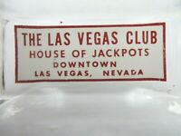 rare THE LAS VEGAS CLUB HOUSE OF JACKPOTS DOWNTOWN CASINO rectangle ashtray Cool