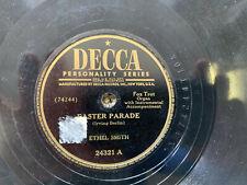 ETHEL SMITH EASTER PARADE 78 RPM RECORD VG+