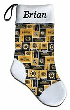 NEW Personalized NHL Boston Bruins Hockey Christmas Stocking Gift