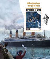 Niger 2017 MNH Titanic 105th Anniv 1v S/S Boats Ships Nautical Stamps