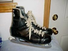 Vintage Mens Ccm Bobby Hull Black Ice Hockey Skates Size 10 1/2, Canada, Super