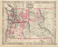 1864 Johnson's Washington, Oregom and Idaho