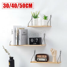 Wooden Hanging Wall Mounted Shelves Rack Book Holder Storage Home Decor 3