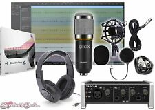 Home Recording Studio One Prime Software Tascam Interface Bundle Studio Package