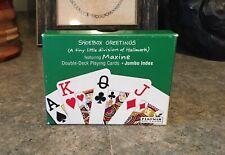 Vintage Shoebox Double-Deck Maxine Playing Cards - Piatnik