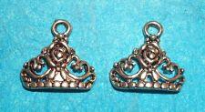 Crown Charm Tiara Queen Princess Royalty Will Kate Audrey Breakfast at Tiffanys