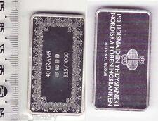 Lingot d argent Collection Des banques du monde ( 40 grammes - Finlande )